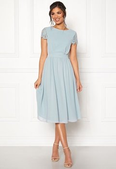 Moments New York Camellia Chiffon Dress Grey-blue Bubbleroom.se