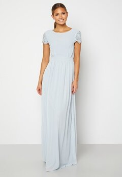 Moments New York Camellia Chiffon Gown Blue-grey Bubbleroom.se