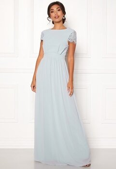Moments New York Camellia Chiffon Gown Blue-grey Bubbleroom.se