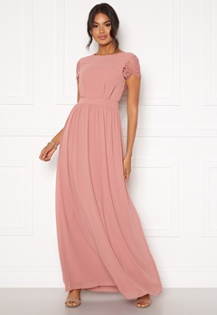 Moments New York Camellia Chiffon Gown Dark old rose Bubbleroom.se