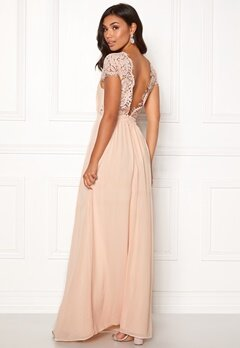 Moments New York Camellia Chiffon Gown Beige-pink Bubbleroom.se