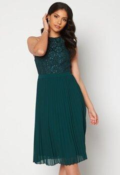 Moments New York Casia Pleated Dress Green Bubbleroom.se