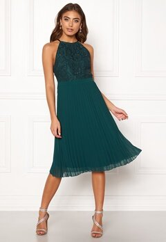 Moments New York Casia Pleated Dress Green Bubbleroom.se