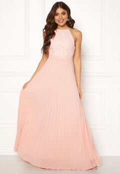 Moments New York Casia Pleated Gown Peach Bubbleroom.se