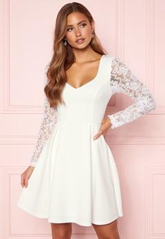 Moments New York Clara Scuba Dress White Bubbleroom.se