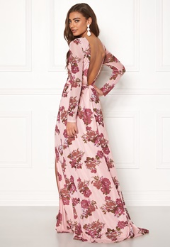 Moments New York Columbine Mesh Gown Patterned Bubbleroom.se