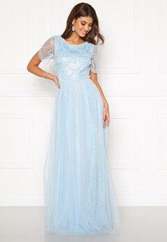 Moments New York Cornelia Beaded Gown Blue Bubbleroom.se