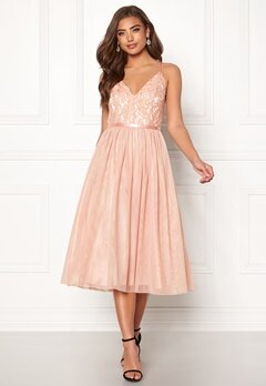 Moments New York Daphne Mesh Dress Dusty pink Bubbleroom.se