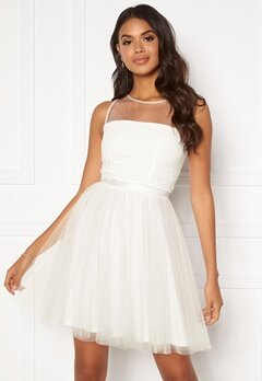 Moments New York Desire mesh dress  White Bubbleroom.se