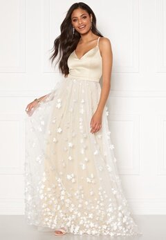 Moments New York Eline Flower Gown Champagne Bubbleroom.se