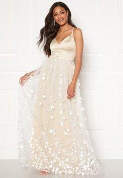 Moments New York Eline Flower Gown Champagne Bubbleroom.se