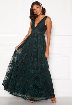 Moments New York Ella Lace Gown Dark green Bubbleroom.se