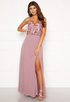 Moments New York Elouise Sequin gown Dusty lilac Bubbleroom.se
