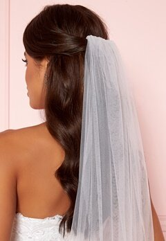Moments New York Embroidery Veil White Bubbleroom.se