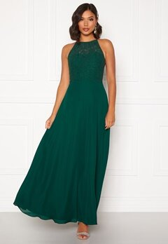 Moments New York Evelyn Lace Gown Dark green Bubbleroom.se