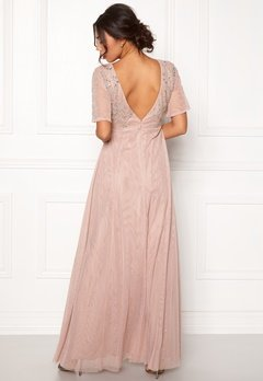 Moments New York Fleur Mesh Gown Light lilac Bubbleroom.se