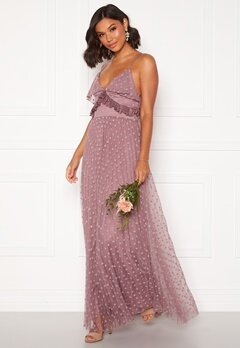 Moments New York Flora Frill gown Dusty lilac Bubbleroom.se