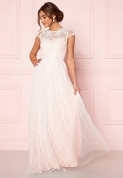 Moments New York Florentina Wedding Gown White Bubbleroom.se