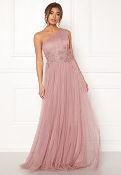 Moments New York Florine Mesh Gown Old rose Bubbleroom.se