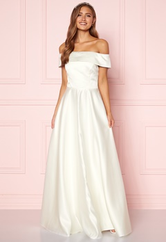 Moments New York Gabrielle Wedding Gown White Bubbleroom.se