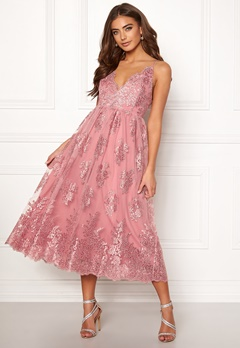 Moments New York Gardenia Lace Dress Dusty pink Bubbleroom.se