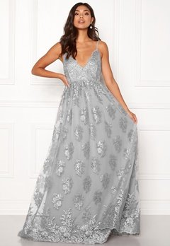Moments New York Gardenia Lace Gown Blue-grey Bubbleroom.se