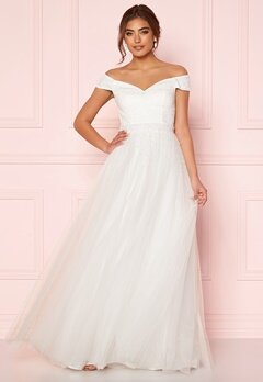 Moments New York Hanna Wedding Gown White Bubbleroom.se