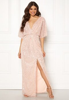 Moments New York Holly Beaded Gown Champagne Bubbleroom.se
