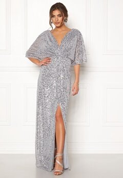 Moments New York Holly Beaded Gown Silver bubbleroom.se
