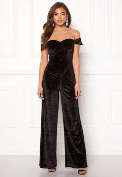 Moments New York Inda Velvet Jumpsuit Black Bubbleroom.se
