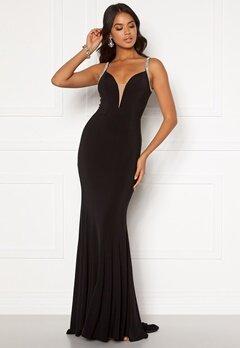 Moments New York Irina Sparkle Gown Black Bubbleroom.se
