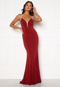 Moments New York Irina Sparkle Gown Wine-red Bubbleroom.se