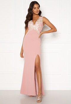 Moments New York Isabella Lace Gown Dusty pink Bubbleroom.se