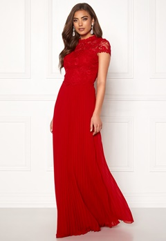 Moments New York Kassia Crochet Gown Red Bubbleroom.se