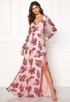 Moments New York Columbine Mesh Gown Pink / Patterned Bubbleroom.se