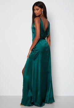 Moments New York Laylani Satin Gown Dark green bubbleroom.se
