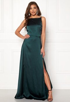 Moments New York Laylani Satin Gown Dark green Bubbleroom.se