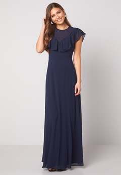 Moments New York Lea Frill Gown Navy Bubbleroom.se