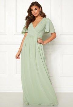 Moments New York Liana Chiffon Gown Light green Bubbleroom.se
