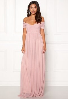 Moments New York Lily Draped Gown Dusty pink Bubbleroom.se