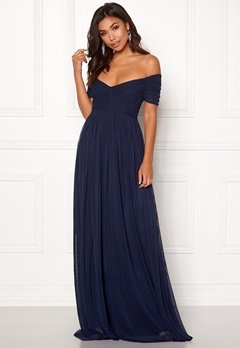 Moments New York Lily Draped Gown Dark blue Bubbleroom.se