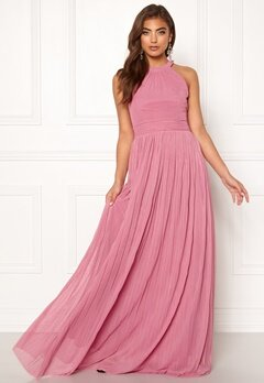 Moments New York Linnea Pleated Gown Dusty pink Bubbleroom.se