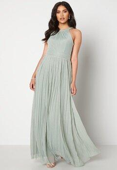 Moments New York Linnea Pleated Gown Jade-green Bubbleroom.se