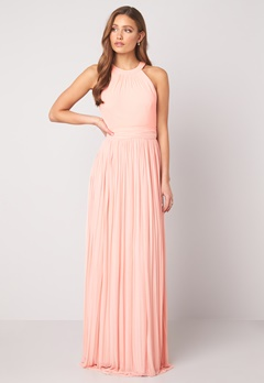 Moments New York Linnea Pleated Gown Light pink Bubbleroom.se