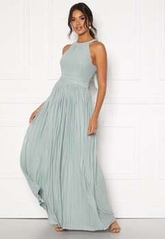 Moments New York Linnea Pleated Gown Jade-green Bubbleroom.se