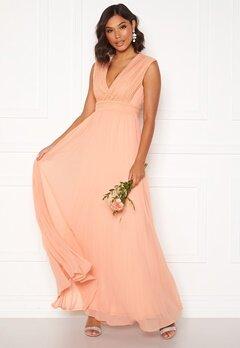 Moments New York Loana Crochet Gown Light pink Bubbleroom.se