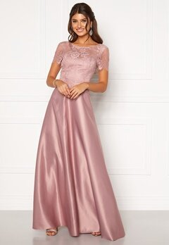 Moments New York Madeleine Satin Gown Light lilac Bubbleroom.se