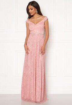 Moments New York Melina Lace Gown Light pink Bubbleroom.se