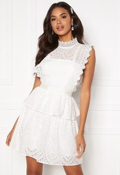 Moments New York Olivia Crochet Dress White Bubbleroom.se
