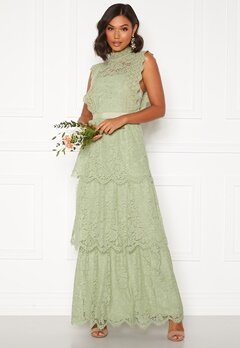 Moments New York Olivia Crochet Gown Green Bubbleroom.se